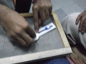 Blind students testing our prototype